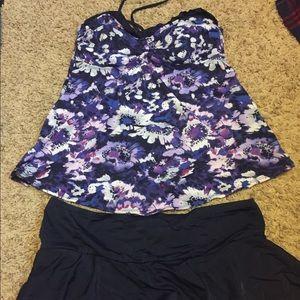 Other - Medium maternity skirted tankini swimsuit